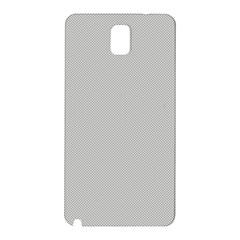 Grey And White Simulated Carbon Fiber Samsung Galaxy Note 3 N9005 Hardshell Back Case by PodArtist