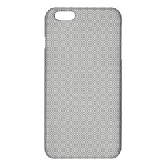 Grey And White Simulated Carbon Fiber Iphone 6 Plus/6s Plus Tpu Case by PodArtist