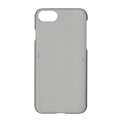 Grey And White Simulated Carbon Fiber Apple Iphone 8 Hardshell Case by PodArtist