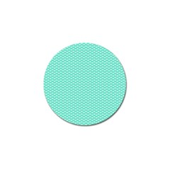 Tiffany Aqua Blue With White Lipstick Kisses Golf Ball Marker (10 Pack) by PodArtist