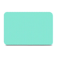Tiffany Aqua Blue With White Lipstick Kisses Plate Mats by PodArtist