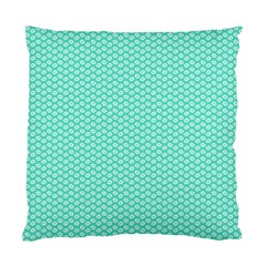 Tiffany Aqua Blue With White Lipstick Kisses Standard Cushion Case (one Side) by PodArtist