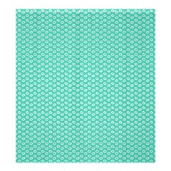 Tiffany Aqua Blue With White Lipstick Kisses Shower Curtain 66  X 72  (large)  by PodArtist