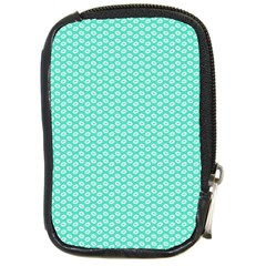 Tiffany Aqua Blue With White Lipstick Kisses Compact Camera Cases by PodArtist