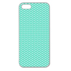 Tiffany Aqua Blue With White Lipstick Kisses Apple Seamless Iphone 5 Case (clear) by PodArtist