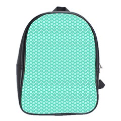 Tiffany Aqua Blue With White Lipstick Kisses School Bag (xl) by PodArtist