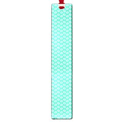 Tiffany Aqua Blue With White Lipstick Kisses Large Book Marks by PodArtist
