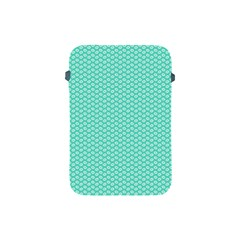 Tiffany Aqua Blue With White Lipstick Kisses Apple Ipad Mini Protective Soft Cases by PodArtist