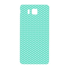 Tiffany Aqua Blue With White Lipstick Kisses Samsung Galaxy Alpha Hardshell Back Case by PodArtist