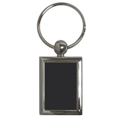 Simulated Black Carbon Fiber Steel Key Chains (rectangle)  by PodArtist