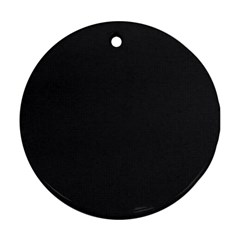 Simulated Black Carbon Fiber Steel Round Ornament (two Sides) by PodArtist