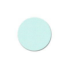 Tiffany Aqua Blue Lipstick Kisses On White Golf Ball Marker (10 Pack) by PodArtist