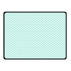 Tiffany Aqua Blue Lipstick Kisses On White Fleece Blanket (small) by PodArtist
