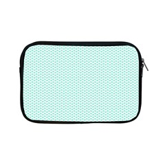 Tiffany Aqua Blue Lipstick Kisses On White Apple Ipad Mini Zipper Cases by PodArtist