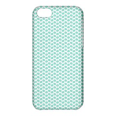 Tiffany Aqua Blue Lipstick Kisses On White Apple Iphone 5c Hardshell Case by PodArtist