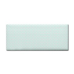 Tiffany Aqua Blue Candy Polkadot Hearts On White Cosmetic Storage Cases by PodArtist