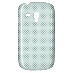 Tiffany Aqua Blue Candy Polkadot Hearts On White Galaxy S3 Mini by PodArtist
