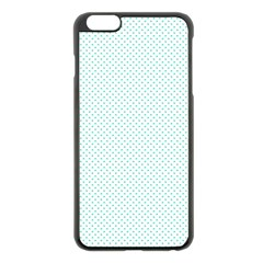 Tiffany Aqua Blue Candy Polkadot Hearts On White Apple Iphone 6 Plus/6s Plus Black Enamel Case by PodArtist