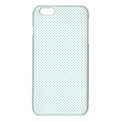 Tiffany Aqua Blue Candy Polkadot Hearts On White Iphone 6 Plus/6s Plus Tpu Case by PodArtist
