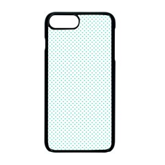 Tiffany Aqua Blue Candy Polkadot Hearts On White Apple Iphone 7 Plus Seamless Case (black) by PodArtist