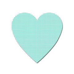 Tiffany Aqua Blue Candy Hearts On White Heart Magnet by PodArtist