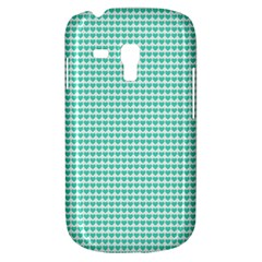 Tiffany Aqua Blue Candy Hearts On White Galaxy S3 Mini by PodArtist