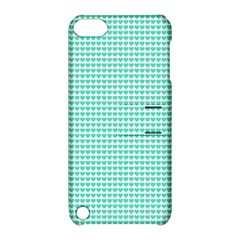 Tiffany Aqua Blue Candy Hearts On White Apple Ipod Touch 5 Hardshell Case With Stand by PodArtist