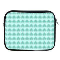 Tiffany Aqua Blue Candy Hearts On White Apple Ipad 2/3/4 Zipper Cases by PodArtist