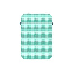 Tiffany Aqua Blue Candy Hearts On White Apple Ipad Mini Protective Soft Cases by PodArtist