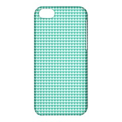 Tiffany Aqua Blue Candy Hearts On White Apple Iphone 5c Hardshell Case by PodArtist