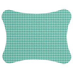 Tiffany Aqua Blue Candy Hearts On White Jigsaw Puzzle Photo Stand (bow) by PodArtist