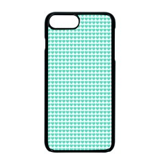 Tiffany Aqua Blue Candy Hearts On White Apple Iphone 7 Plus Seamless Case (black) by PodArtist
