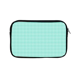 Tiffany Aqua Blue Candy Hearts On White Apple Macbook Pro 13  Zipper Case by PodArtist