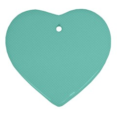 Tiffany Aqua Blue Puffy Quilted Pattern Ornament (heart) by PodArtist