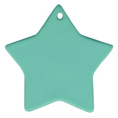 Tiffany Aqua Blue Puffy Quilted Pattern Ornament (star) by PodArtist