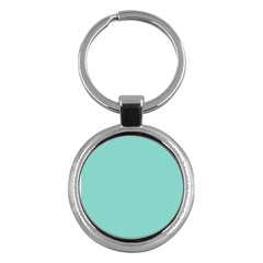 Tiffany Aqua Blue Puffy Quilted Pattern Key Chains (round)  by PodArtist