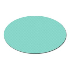 Tiffany Aqua Blue Puffy Quilted Pattern Oval Magnet by PodArtist