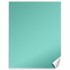 Tiffany Aqua Blue Puffy Quilted Pattern Canvas 12  X 16   by PodArtist