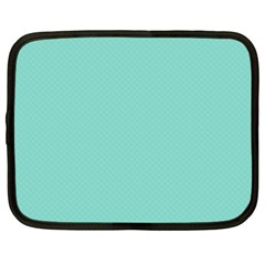 Tiffany Aqua Blue Puffy Quilted Pattern Netbook Case (large) by PodArtist