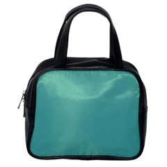 Tiffany Aqua Blue Puffy Quilted Pattern Classic Handbags (one Side) by PodArtist