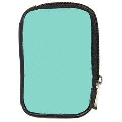 Tiffany Aqua Blue Puffy Quilted Pattern Compact Camera Cases by PodArtist
