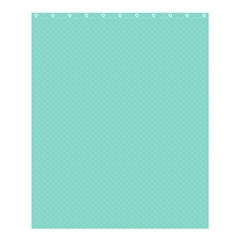 Tiffany Aqua Blue Puffy Quilted Pattern Shower Curtain 60  X 72  (medium)  by PodArtist