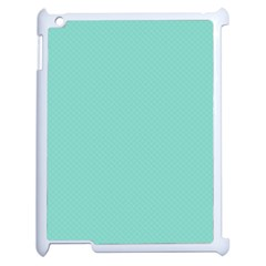 Tiffany Aqua Blue Puffy Quilted Pattern Apple Ipad 2 Case (white) by PodArtist