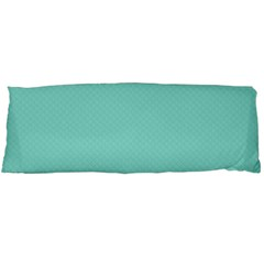 Tiffany Aqua Blue Puffy Quilted Pattern Body Pillow Case (dakimakura) by PodArtist