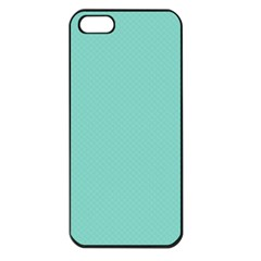Tiffany Aqua Blue Puffy Quilted Pattern Apple Iphone 5 Seamless Case (black)