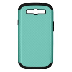Tiffany Aqua Blue Puffy Quilted Pattern Samsung Galaxy S Iii Hardshell Case (pc+silicone) by PodArtist