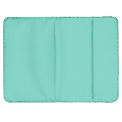Tiffany Aqua Blue Puffy Quilted Pattern Samsung Galaxy Tab 7  P1000 Flip Case by PodArtist