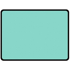 Tiffany Aqua Blue Puffy Quilted Pattern Double Sided Fleece Blanket (large)  by PodArtist