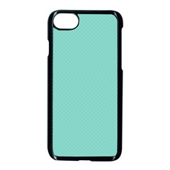 Tiffany Aqua Blue Puffy Quilted Pattern Apple Iphone 7 Seamless Case (black) by PodArtist