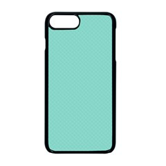 Tiffany Aqua Blue Puffy Quilted Pattern Apple Iphone 8 Plus Seamless Case (black) by PodArtist
